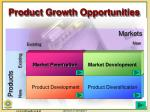 product growth opportunities