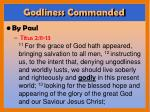 godliness commanded2