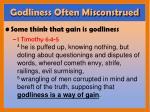 godliness often misconstrued
