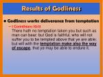 results of godliness1