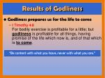 results of godliness3