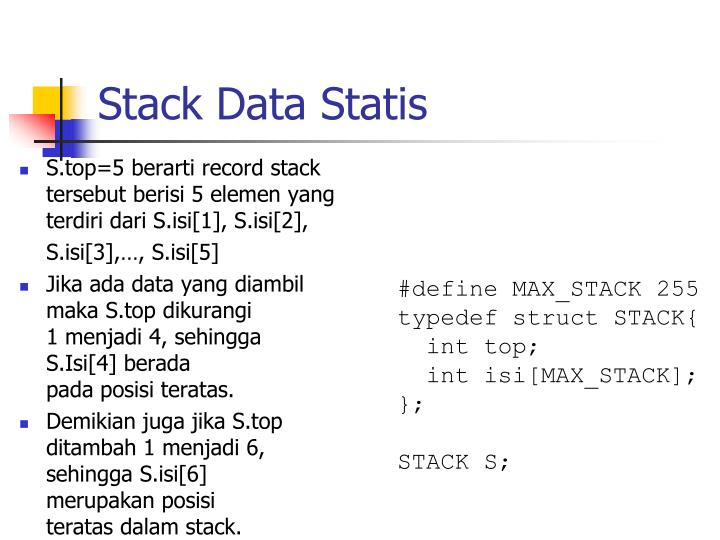 Stack Data Statis