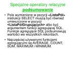 specjalne operatory relacyjne podsumowanie1