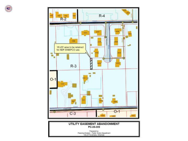 Thompson utility easement 4101 central place