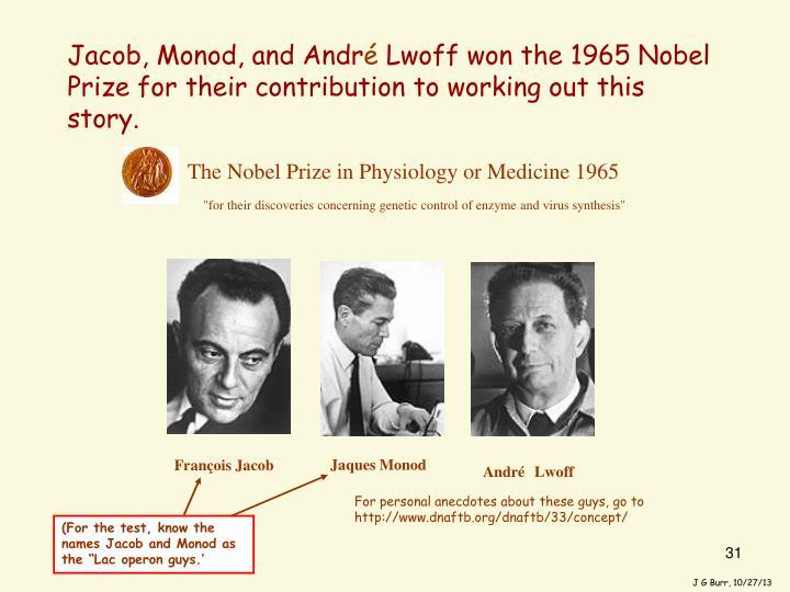 Jacob, Monod, and Andr