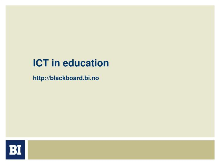 ict in education n.