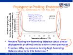 phylogenetic profiling evidence wu et al bioinformatics 19 1524 1530 2003