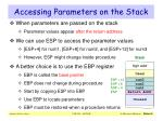 accessing parameters on the stack