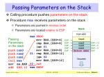 passing parameters on the stack