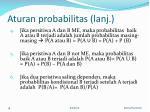 aturan probabilitas lanj