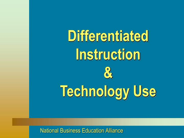 differentiated instruction technology use n.