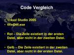 code vergleich