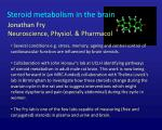 steroid metabolism in the brain