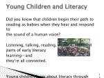 young children and literacy