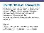 operator bahasa konkatenasi