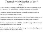 thermal restabilization of bcc no