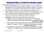 relational db as a predicate calculus model