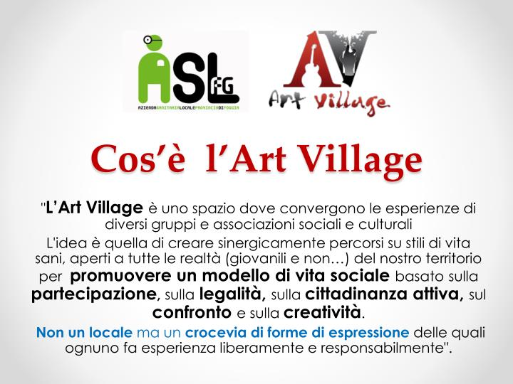 cos l art village n.