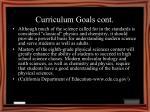 curriculum goals cont