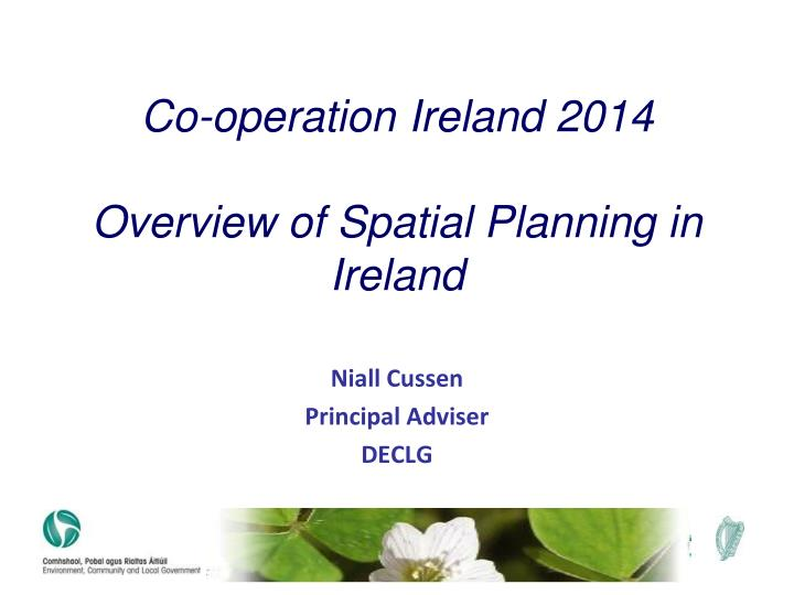 co operation ireland 2014 overview of spatial planning in ireland n.