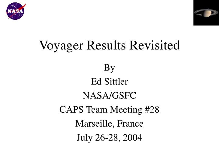 voyager results revisited n.