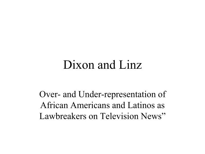 dixon and linz n.