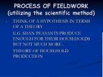 process of fieldwork utilizing the scientific method