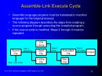 assemble link execute cycle