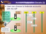 account federation details 2