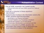 authentication context