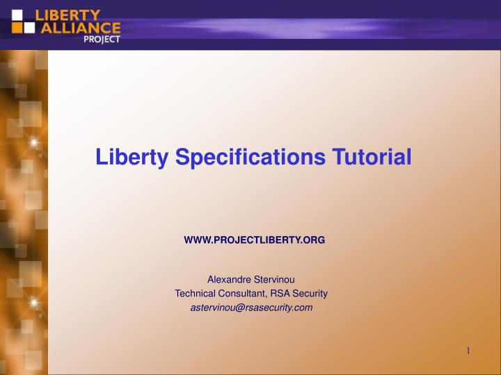 liberty specifications tutorial n.