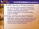 security privacy guidelines