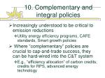 10 complementary and integral policies