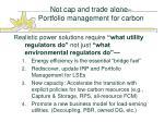 not cap and trade alone portfolio management for carbon