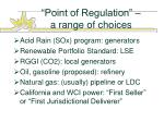 point of regulation a range of choices