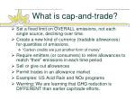 what is cap and trade