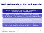 national standards use and adoption