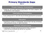 primary standards gaps part 2