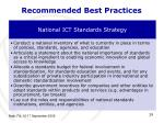 recommended best practices
