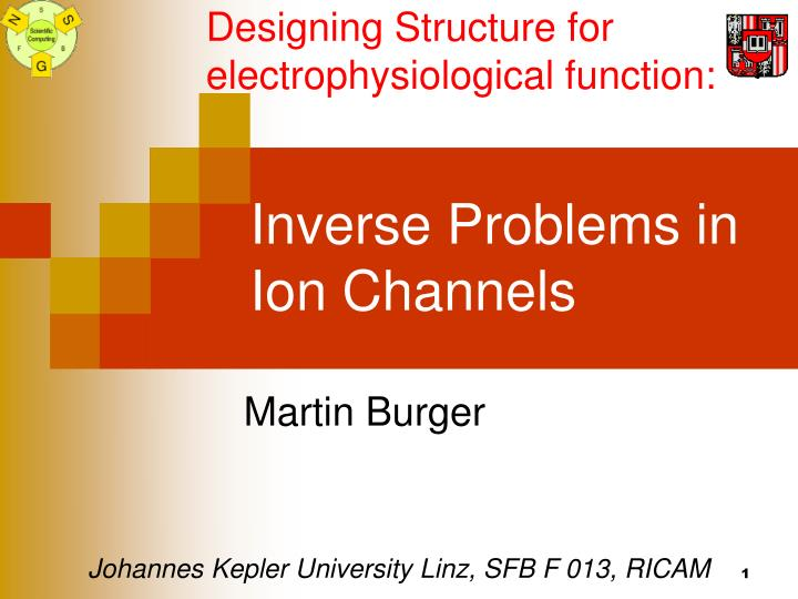 inverse problems in ion channels n.