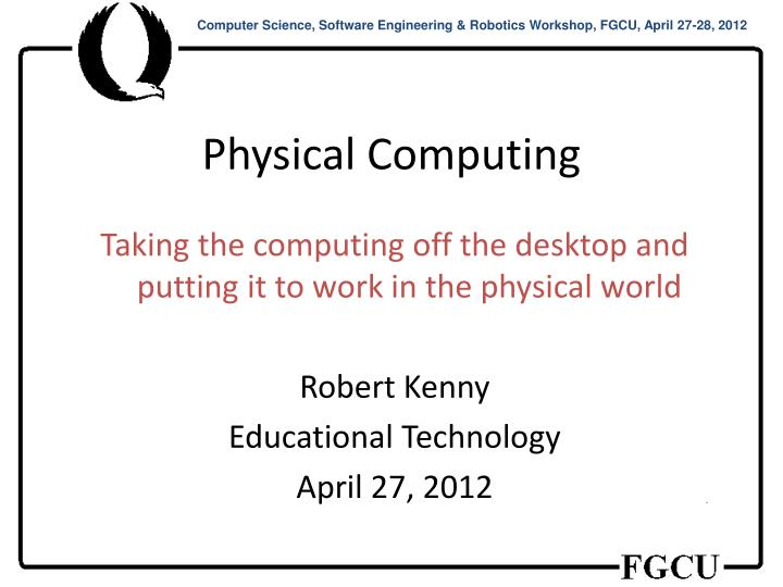 physical computing n.