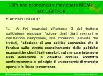 l unione economica e monetaria uem art 119 tfue