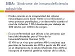 sida s ndrome de inmunodeficiencia adquirida