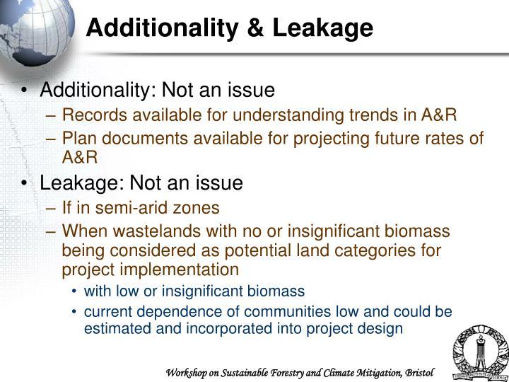 Additionality & Leakage