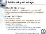 additionality leakage