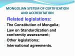 mongolian system of certification and accreditation