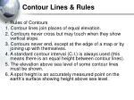 contour lines rules