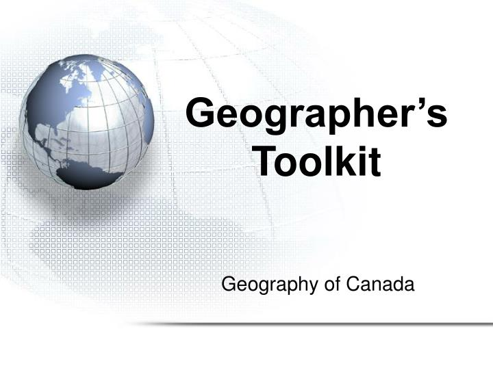 geographer s toolkit n.