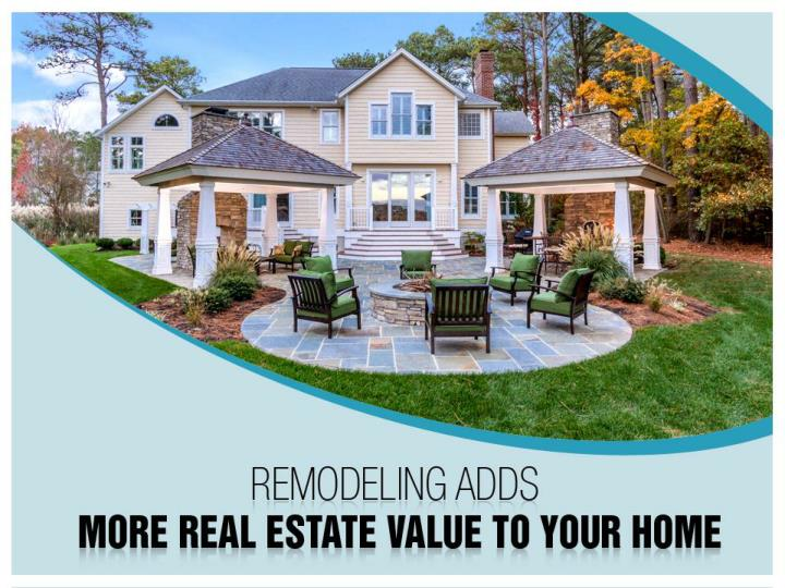 remodeling adds more real estate value to your home n.