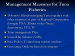 management measures for tuna fisheries